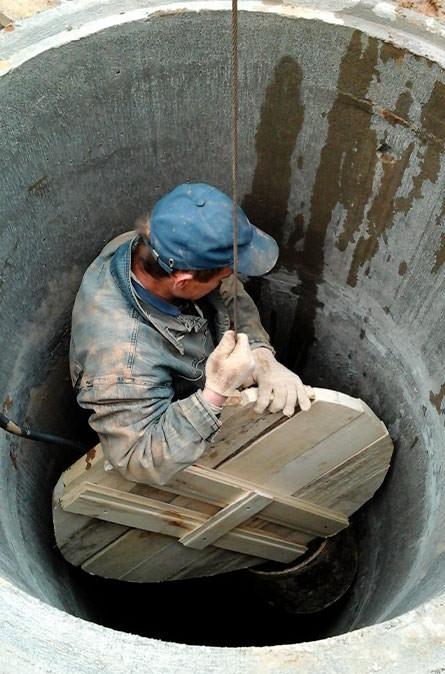 Как мы выполняем чистку колодца в Серпуховском районе