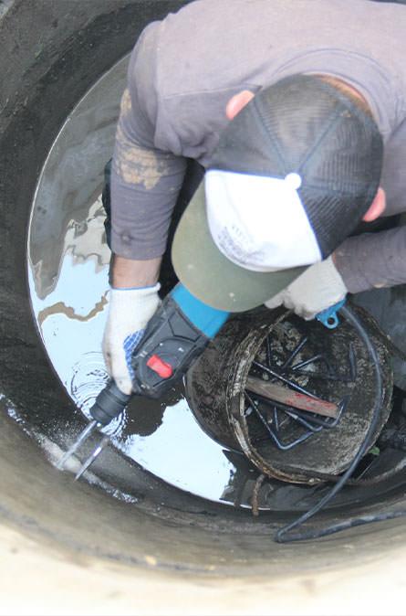 Как мы выполняем ремонт колодцев в Серпуховском районе